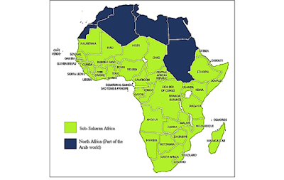 Peta Sub Sahara Afrika