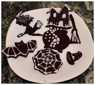 biscotti al cacao decorati halloween