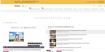 belajar online gratis personal branding di QuBisa