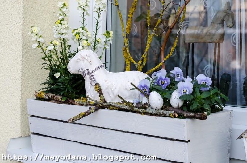 Fruhlings Fensterkasten Mit Diy Betonfiguren Mayodans Blog