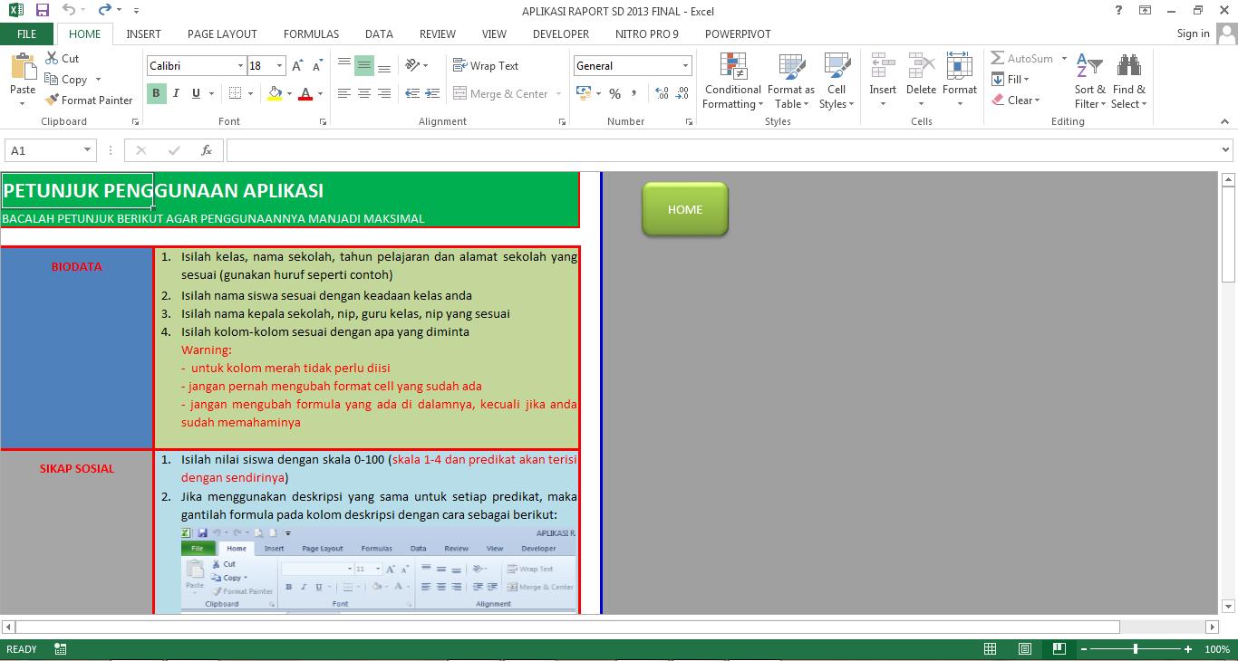 Aplikasi Pengolahan Nilai Raport Sd Berbasis Kurikulum 2013 Blog Sekolah Dasar