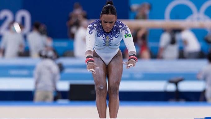 Rebeca Andrade faz história e leva a prata no individual geral dos Jogos Olímpicos de Tóquio