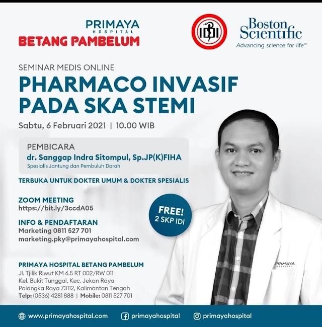 Free 2 SKP IDI  Seminar Medis Online    Pharmaco Invasif pada SKA STEMI