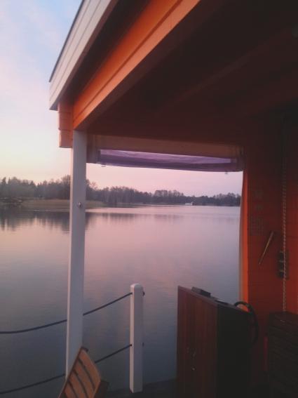 Ausblick vom BunBo Bungalow Boot