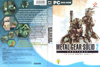 Jogo Metal Gear Solid 2: Substance PC DVD Capa