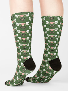 kawaii sushi cat socks available on redbubble