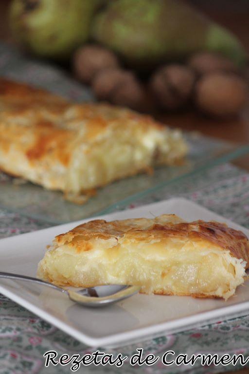 Strudel de patata, pera, queso y nueces {Kartofel strudel}