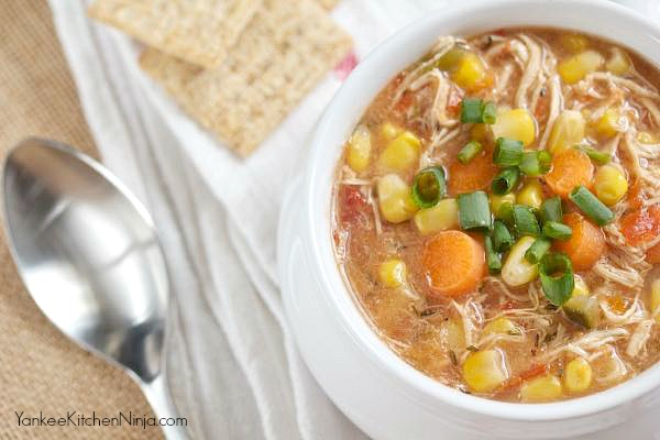 skinny slow cooker chicken corn chowder