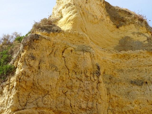 Carnero Ponta Grande Algarve dibujo en roca acantilado