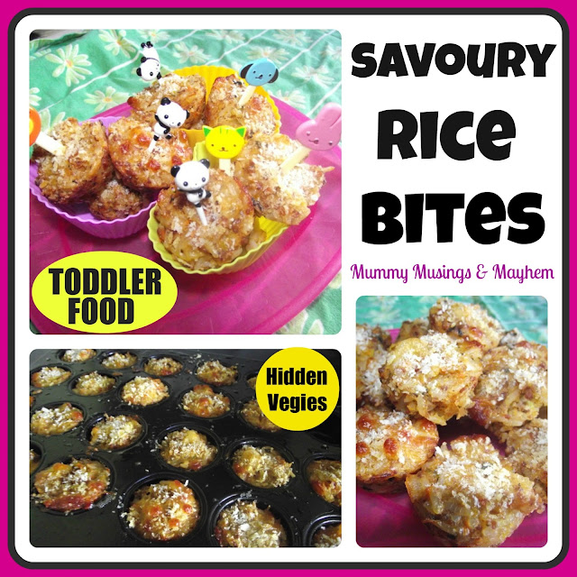 Toddler rice meat finger food