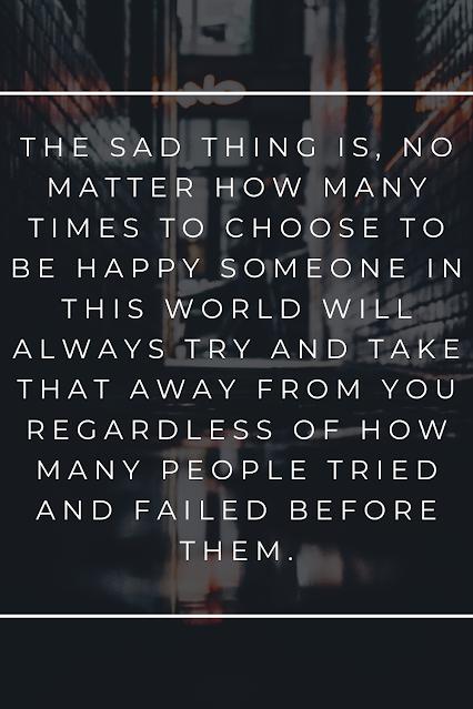 Sad Quote, Happy life.