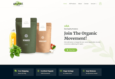Organic Ecommerce Website