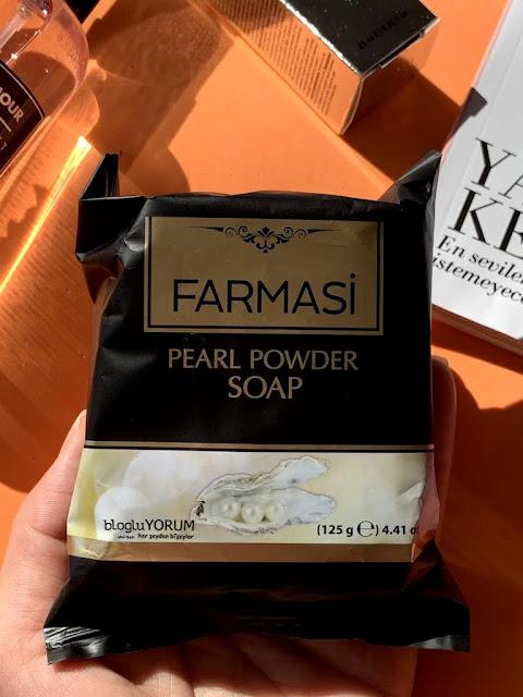 farmasi kişisel bakım başlangıç paketi inci tozu sabun