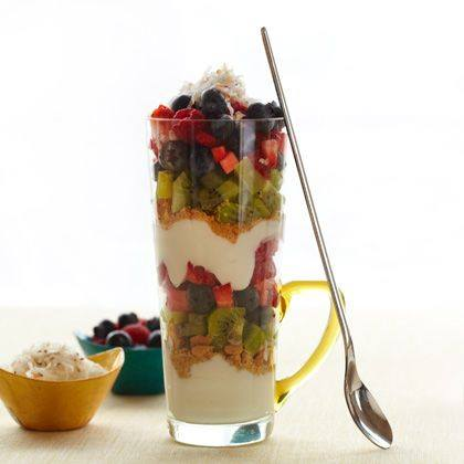 Fruit Parfait with Toasted Coconut