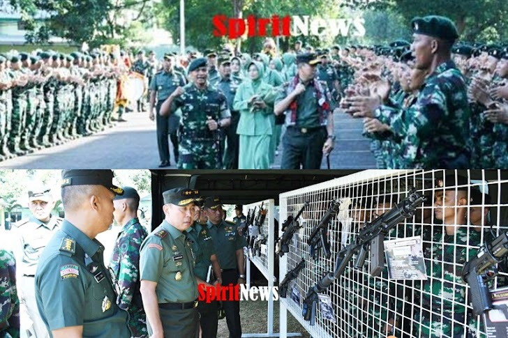 Yel – Yel Prajurit Raider 700 Menyambut Kedatangan Pangdam Hasanuddin Bersama Ketua Perstit