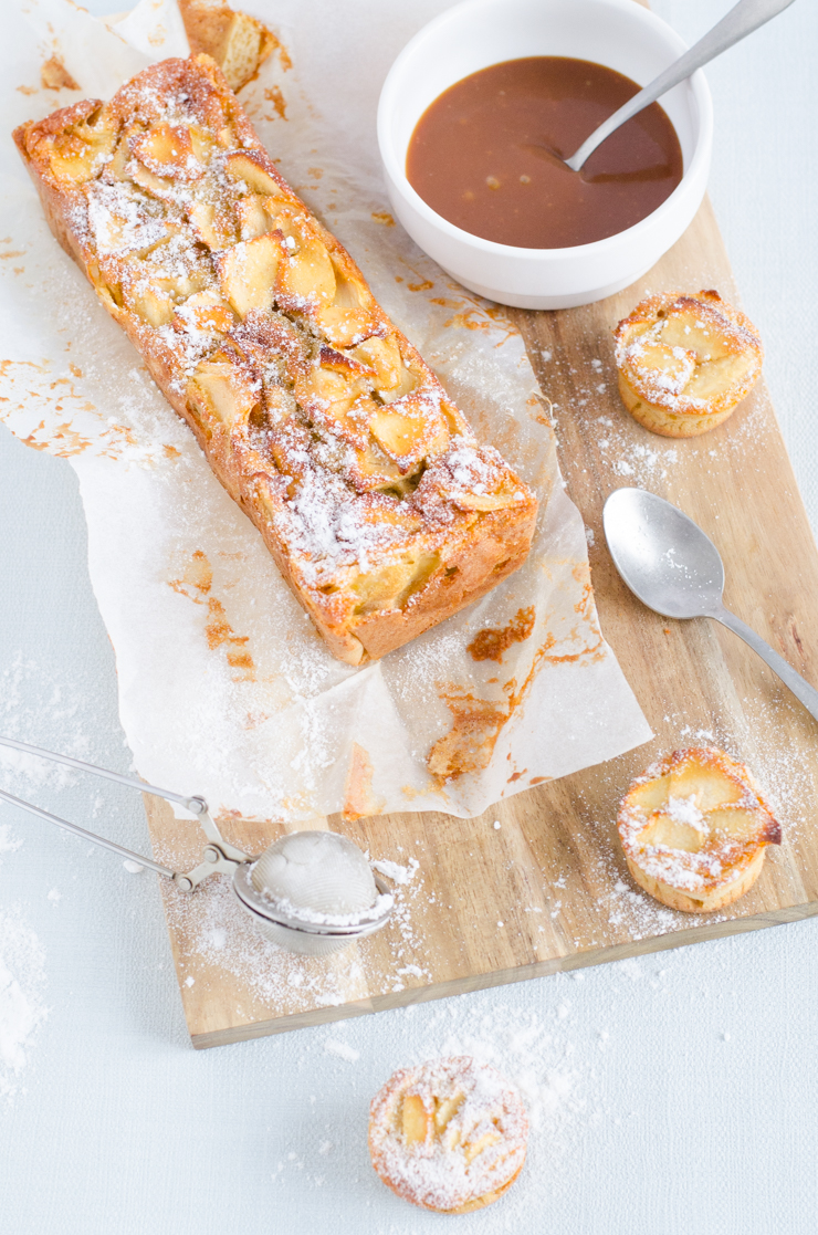 G teau fondant pommes et sauce caramel beurre sal je - Fondant caramel beurre sale ...