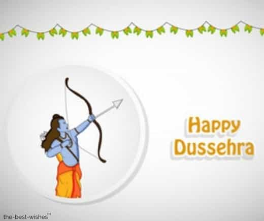 happy dussehra pic with lord ram