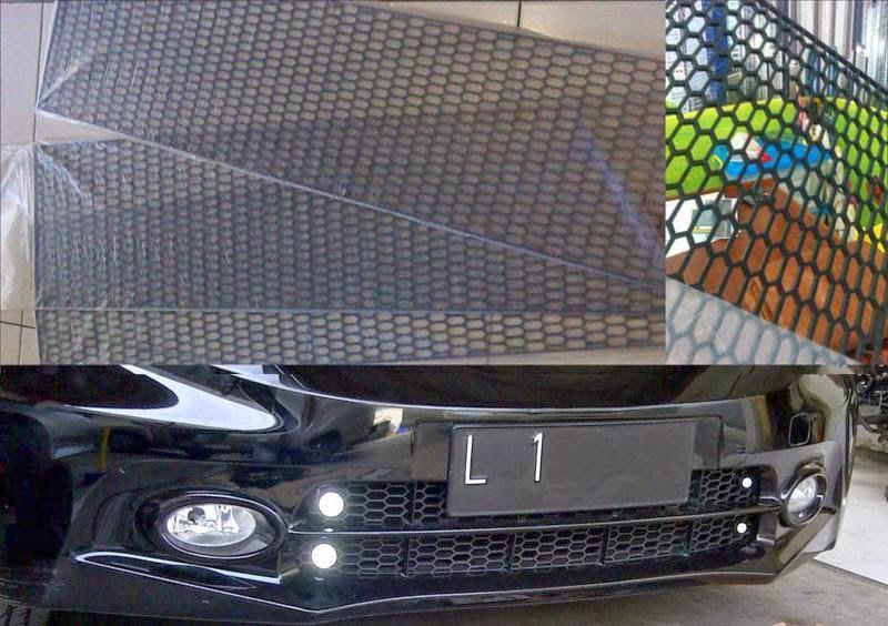 Inner Grill Grand New Avanza Veloz 1.5 2016 Honeycomb Plastik Untuk Melindungi Condensor Radiator