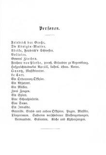Personen - Mathilde Wesendonck: Friedrich der Große. 1871