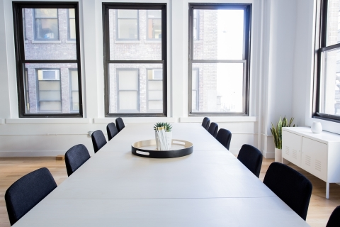 Image of a typical office meeting room