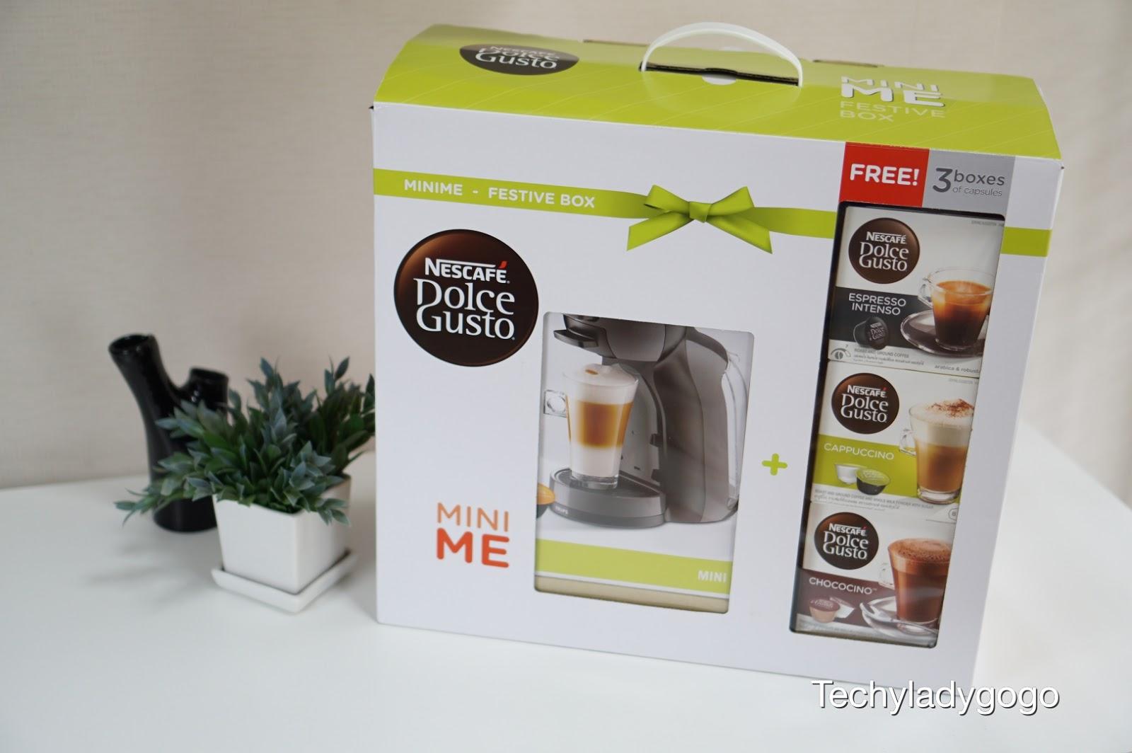 NESCAFÉ Dolce Gusto รุ่น Mini Me - FESTIVE BOX เครื่องชงกาแฟแคปซูล สุดทันสมัย ใช้ง่าย หอมอร่อยราวกับยกร้านกาแฟมาไว้ที่บ้าน เนสกาแฟ ดอลเช่ กุสโต้ nescafe capsule coffee