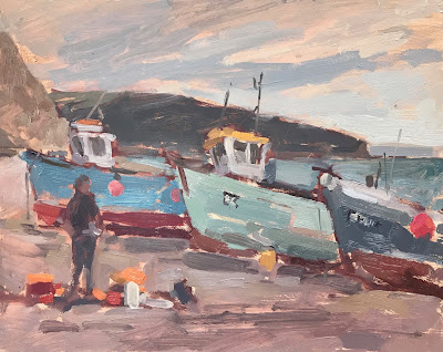 #250 'Fishing Boats, Beer' 8×10″
