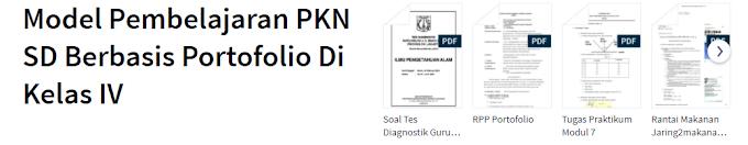 Contoh RPP Model Pembelajaran PKn Berbasis Portofolio