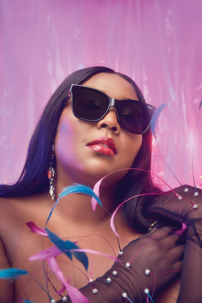 Lizzo wears After Party sunglasses from Quay collaboration.