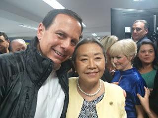 Tamiko Inoue e João Dória