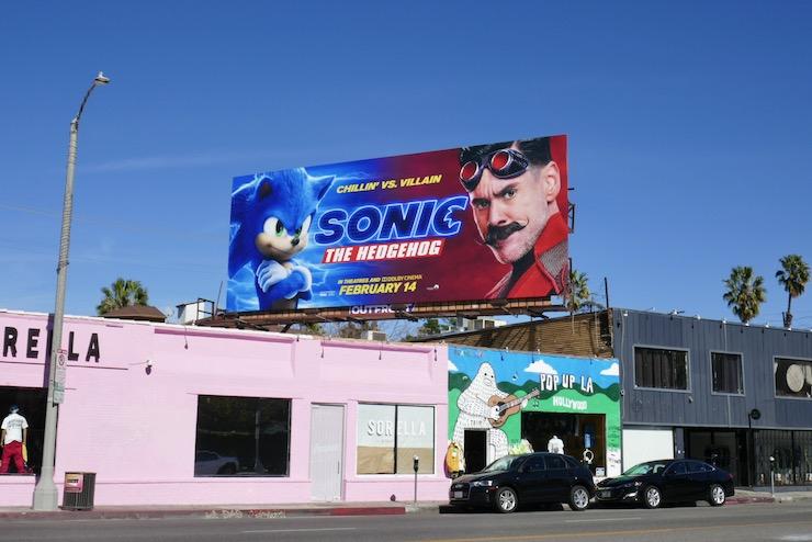 Sonic the Hedgehog film billboard