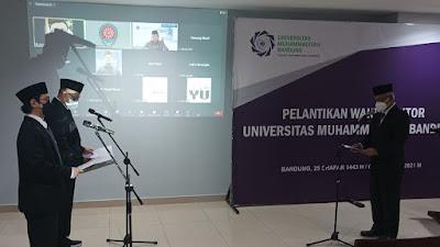Digelar Secara Hybrid, Hendar Riyadi dan Ahmad Diponegoro Jadi Wakil Rektor UMBandung