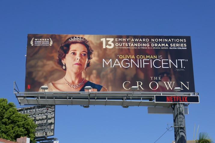 Olivia Colman Crown 2020 Emmy nominee billboard