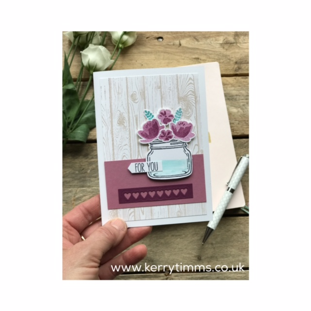 kerry timms stampin up crafting create creative papercraft class gloucester handmade scrapbooking stamping jar of love big shot flowers jam jar