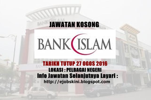 jawatan kosong di bank islam ogso 2016