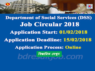DSS - Department of Social Services Job Circular 2018