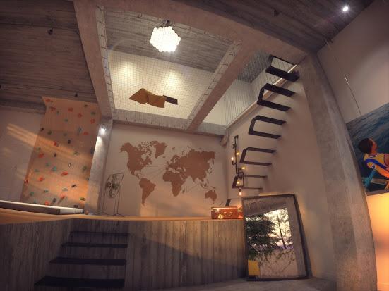 Film d'animation 3D d'architecture