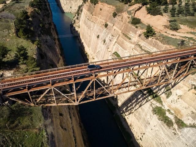 Μέτρα προστασίας του ΟΣΕ στην παλιά γέφυρα του ισθμού