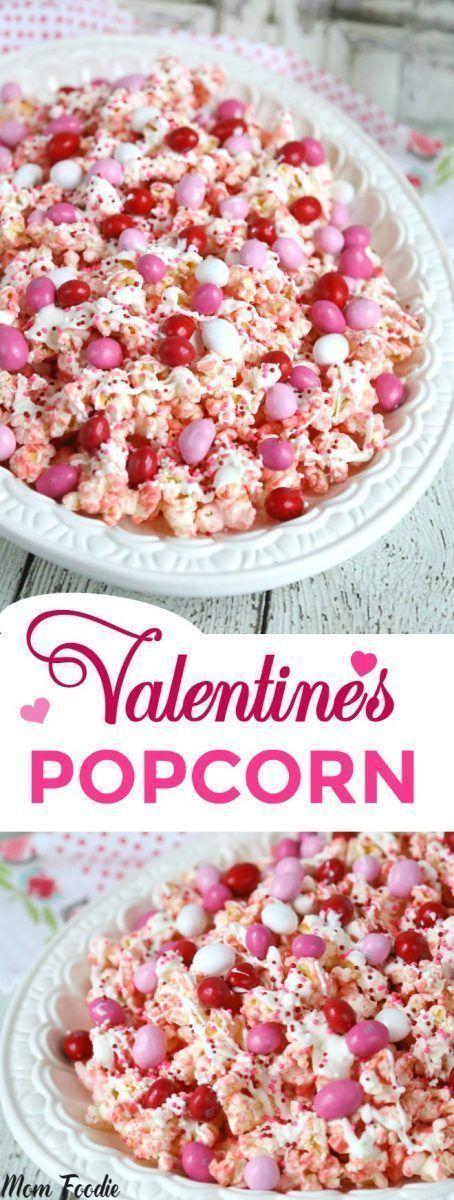 Valentines Day Popcorn Recipe: Pink Chocolate Covered Popcorn