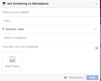 sell things online via Facebook market place