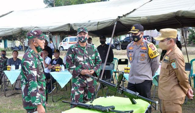 Kapolres Lumajang Ikuti Coffee Morning dan Latihan Menembak Bersama Forkopimda