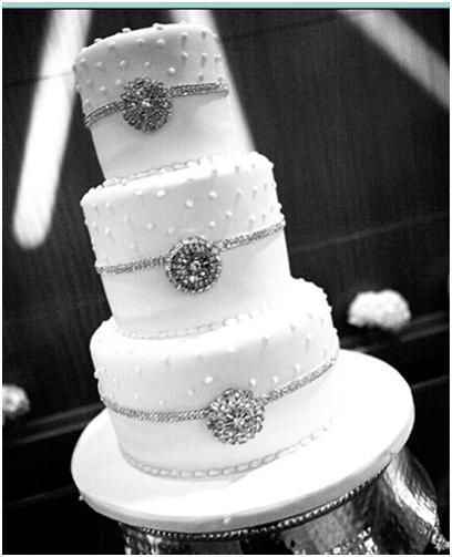 Wedding Cake Bling; Beautiful Cakes That Sparkle & Shine