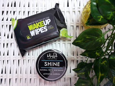 Misfit Cosmetics Wake Up Wipes and Activated Charcoal Teeth Whitening Powder
