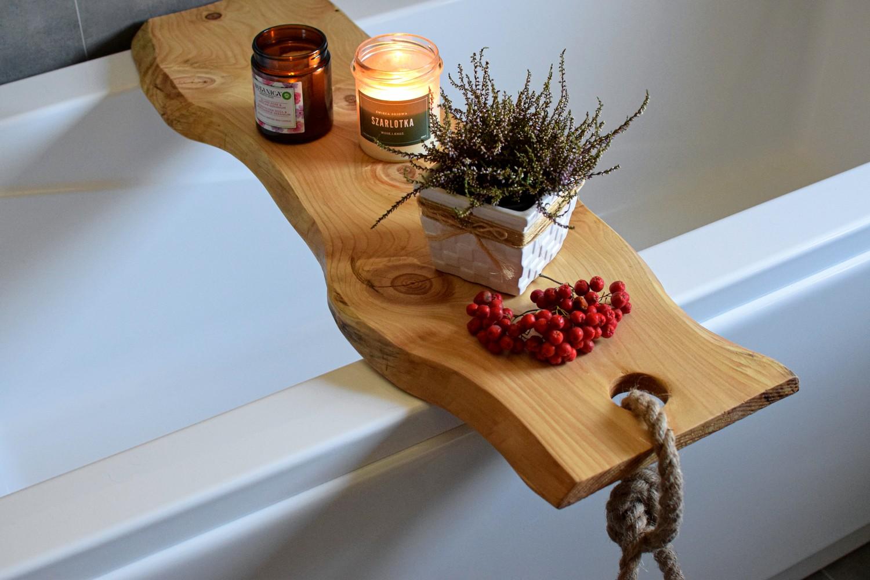 Dyed Wood deski na wannę Handmade