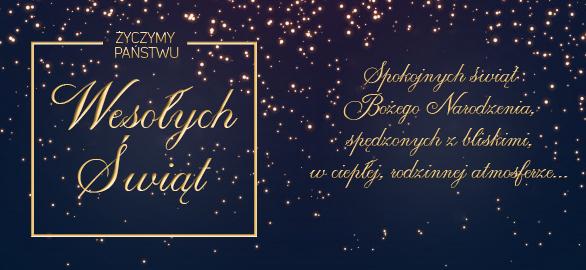 ŚlubneZakupy.pl życzą Wesołych Świąt!