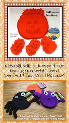 Halloween speech/language therapy ideas fro Looks-Like-Language