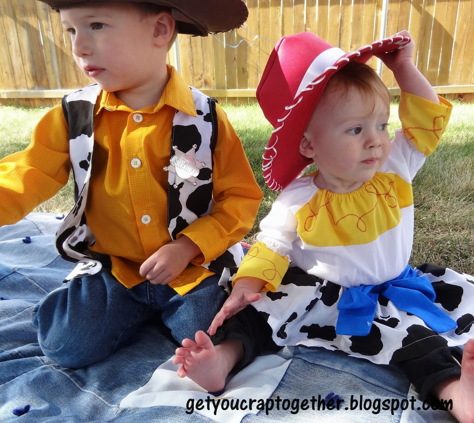 Finally ...  sc 1 st  GYCT Designs & DIY Woody u0026 Jessie Costumes--31 Day of Halloween - GYCT Designs