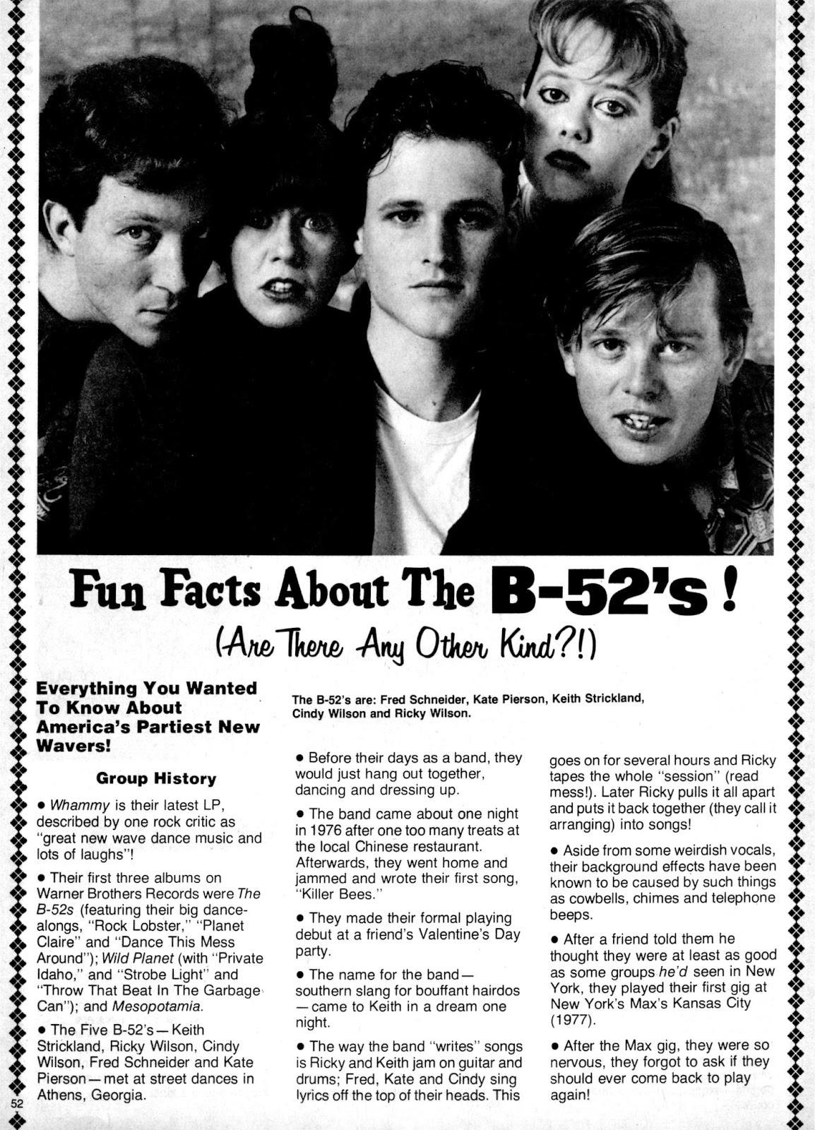 Image result for The B-52's fun facts