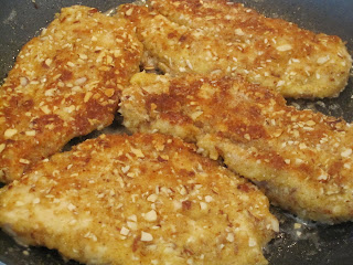 Chicken breasts with an almond and bread crumb crust and a delicious creamy lemon sauce. Life-in-the-Lofthouse.com