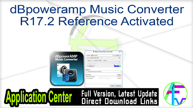 dBpoweramp Music Converter R17.2 Reference Activated