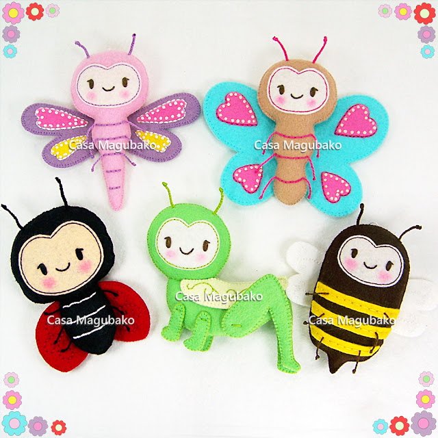 Felt Bug Collection by casamagubako.com